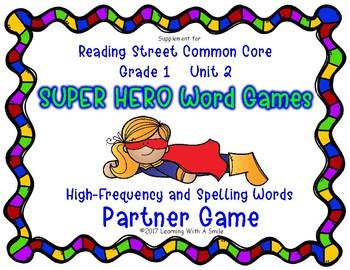Reading Street Resource SUPER HERO WORD GAMES First Grade Unit 2
