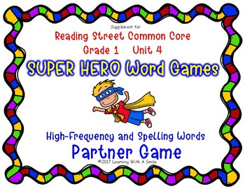 Reading Street Resource SUPER HERO WORD GAMES First Grade Unit 4
