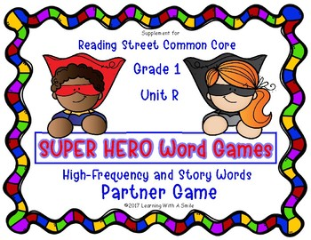 Reading Street Resource SUPER HERO WORD GAMES First Grade Unit R