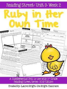 Reading Street- Ruby in Her Own Time Supplemental Unit {Unit 3: Week 2}