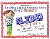 Reading Street SECOND GRADE SPELLING Unit 1 Word Game: SLIDE! READ & SPELL