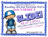 Reading Street SECOND GRADE SPELLING Unit 4 Word Game: SLIDE! READ & SPELL