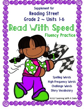 Reading Street SECOND GRADE Supplement ~ Read With Speed ~ Fluency Practice