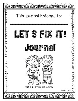 Reading Street SECOND GRADE (Unit 2) FIX-IT JOURNALS: Let's Fix It!