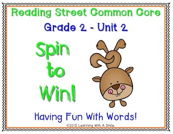 Reading Street SECOND GRADE Unit 2 Spelling, High-Frequency, Amazing Words Game
