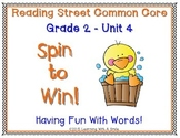 Reading Street SECOND GRADE Unit 4  Spelling, Story, Amazing Words: Partner Game