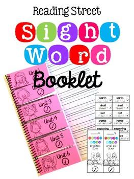 Reading Street SIGHT WORD Booklet FLIP BOOK