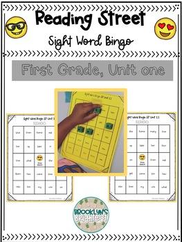 Reading Street (Scott Foresman) First Grade Sight Word Bingo