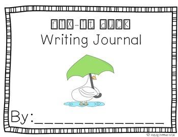 Reading Street Scott Foresman Writing Journal- Unit 1 Week 2- Fix-It Duck