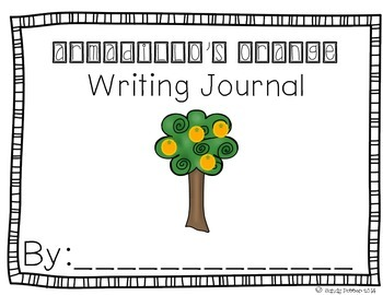 Reading Street Scott Foresman Writing Journal- Unit 2 Week 2- Armadillo's Orange