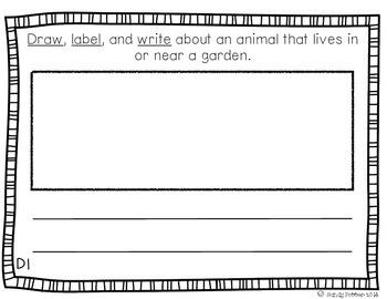 Reading Street Scott Foresman Writing Journal- Unit 2 Week 6- Whose Garden Is It
