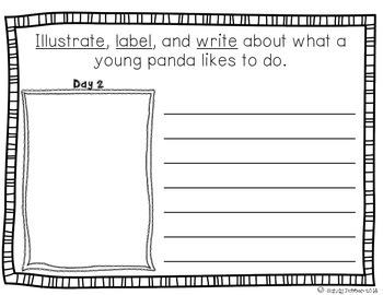 Reading Street Scott Foresman Writing Journal- Unit 3 Week 1- Little Panda