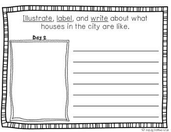 Reading Street Scott Foresman Writing Journal- Unit 6 Week 1- Homes Around..