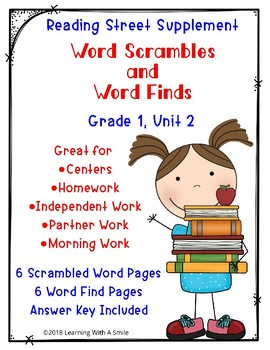 Reading Street Scrambled Words and Word Finds Unit 2