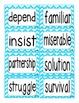 Reading Street Second Grade Amazing Words (2013 Common Core) (Bright Colors)