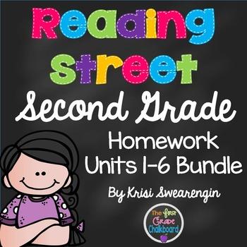 Reading Street Second Grade Homework Bundle