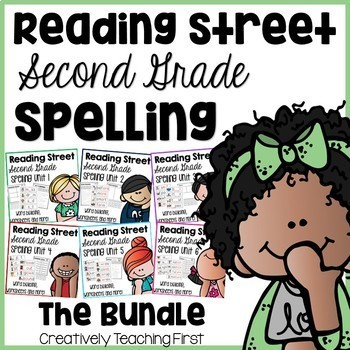 Reading Street Second Grade- The Bundle Spelling Centers a