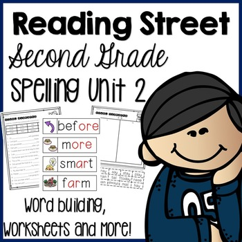 Reading Street Second Grade- Unit 2 Spelling Centers and W