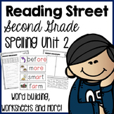 Reading Street Second Grade- Unit 2 Spelling Centers and Worksheets