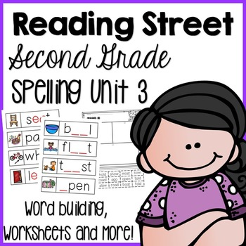 Reading Street Second Grade- Unit 3 Spelling Centers and W