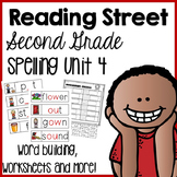 Reading Street Second Grade- Unit 4 Spelling Centers and Worksheets