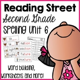 Reading Street Second Grade- Unit 6 Spelling Centers and Worksheets