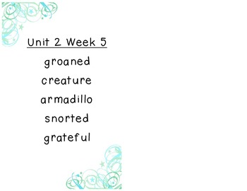 Reading Street Selection Vocabulary Unit 2 Grade 2
