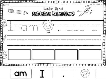 Reading Street {Sentence Superstars!} {Weekly Practice} {Read, Write, Make!}
