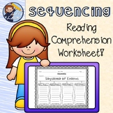 Reading Street Sequencing/Order of Events Sheet