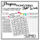 Reading Street Sight Word Assessment & Progress Monitoring Sheet