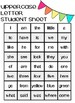 Reading Street Sight Word Assessment & Progress Monitoring Sheet