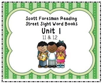 Reading Street Sight Word Booklet Unit 1