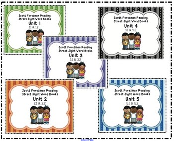 Reading Street Sight Word Booklet Unit 1-5 BUNDLE