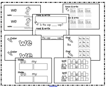 Reading Street Sight Word Booklet Unit 2