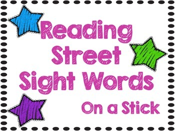 Sight Word Center Kindergarten - Aligned to Reading Street