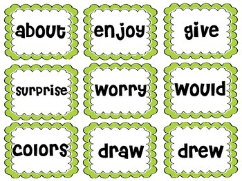 Reading Street Sight Word Flash Cards