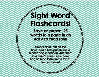 Reading Street Sight Word Flashcards-save on paper!