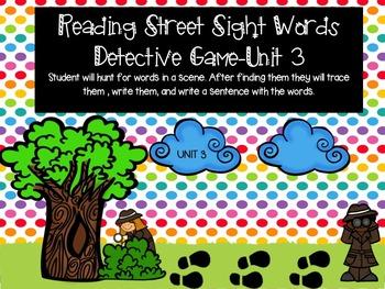 Reading Street Sight Word Game Unit 3