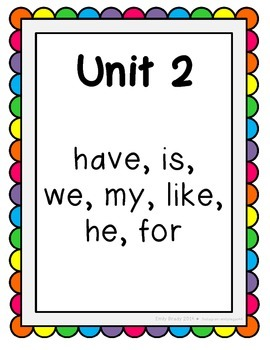 Reading Street Sight Word Kindergarten List