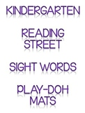 Reading Street Sight Word Play-Doh Mats