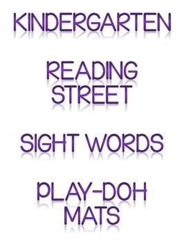 Reading Street Sight Word Play-Doh Mats