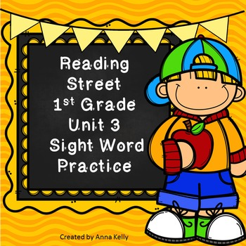 Reading Street Sight Word Practice Unit 3