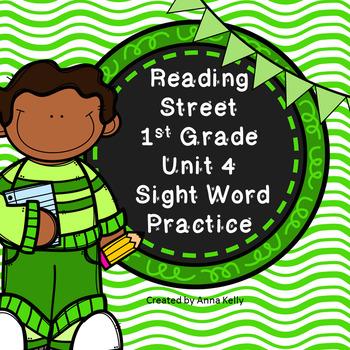 Reading Street Sight Word Practice Unit 4