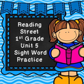 Reading Street Sight Word Practice Unit 5