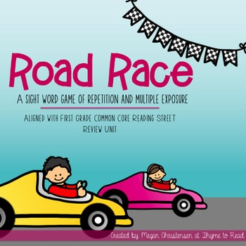 Reading Street Sight Word Road Race Game - Kindergarten Review Unit