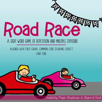Reading Street Sight Word Road Race Game - Unit 1