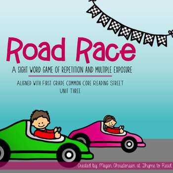 Reading Street Sight Word Road Race Game - Unit 3
