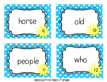 Reading Street Sight Word Scoot-First Grade