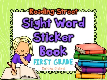 Reading Street Sight Word Sticker Book First Grade {EDITABLE} {Common Core}