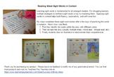 Reading Street Sight Word Stories Unit 4 Bundle